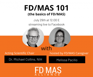 info about FD/MAS 101 with picture of Dr. Collins and Melissa Pacillio